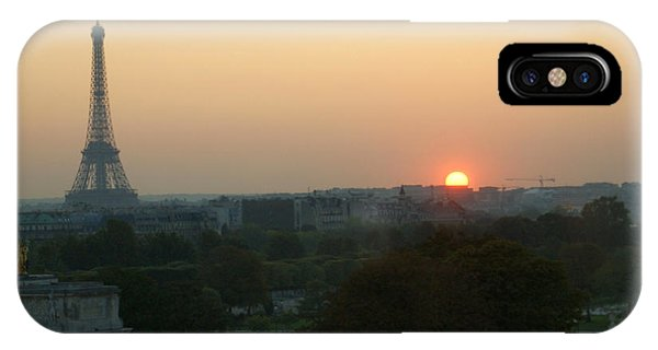 iPhone Case - View Of Sunset From The Louvre by Christine Jepsen