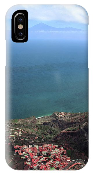 Canary iPhone Case - View Of Teide From La Gomera by Cambion Art