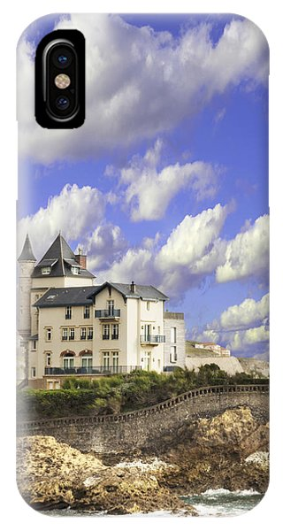 View Of The Beautiful Castle On The Bay Of Biscay Of The Atlantic Ocean IPhone Case