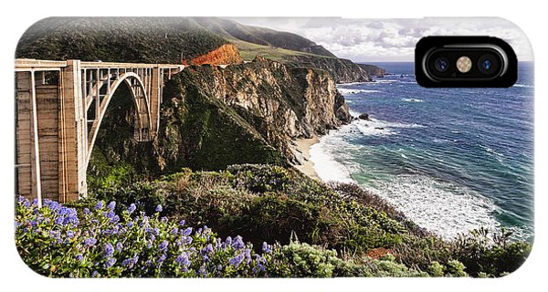 Monterey iPhone Case - View Of The Bixby Creek Bridge Big Sur California by George Oze