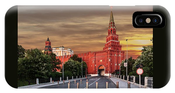 View Of The Borovitskaya Tower Of The Moscow Kremlin IPhone Case