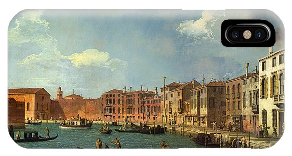 Cityscape iPhone Case - View Of The Canal Of Santa Chiara by Canaletto