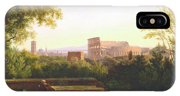 Capitol iPhone Case - View Of The Colosseum From The Orti Farnesiani by Antoine Felix Boisselier
