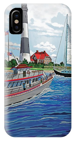 View Of The Fire Island Lighthouse From The Great South Bay IPhone Case
