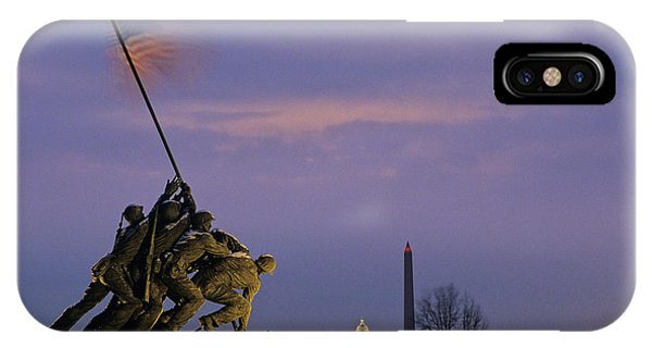 Lincoln Memorial iPhone Case - View Of The Iwo Jima Monument by Kenneth Garrett