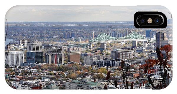 View Of The Jacques Cartier Bridge IPhone Case