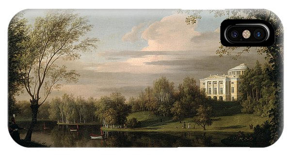 Palace iPhone Case - View Of The Pavlovsk Palace by Carl Ferdinand von Kugelgen