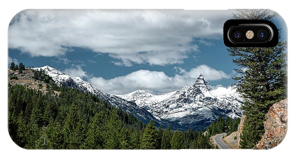 View Of The Pilot Peak From Highway 212 IPhone Case