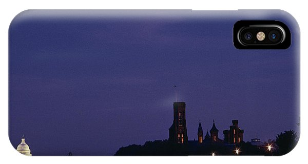 View Of The Smithsonian Building IPhone Case