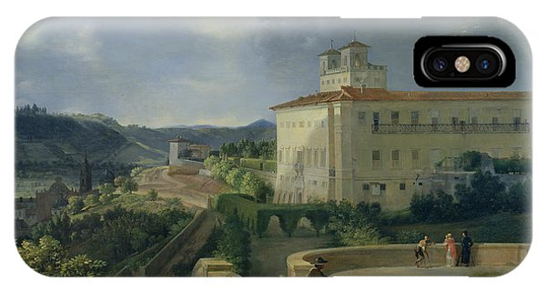 Imposing iPhone Case - View Of The Villa Medici In Rome by Nicolas Antoine Taunay