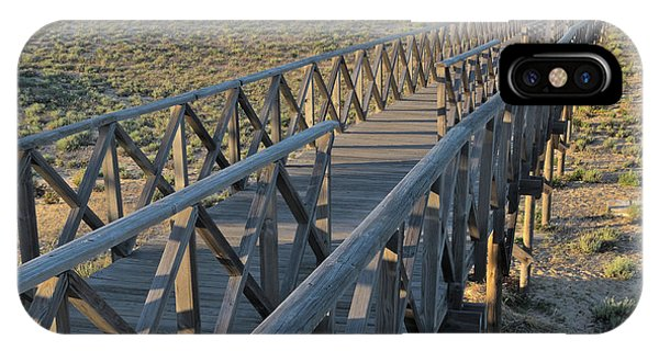 View Of The Wooden Bridge In Quinta Do Lago IPhone Case