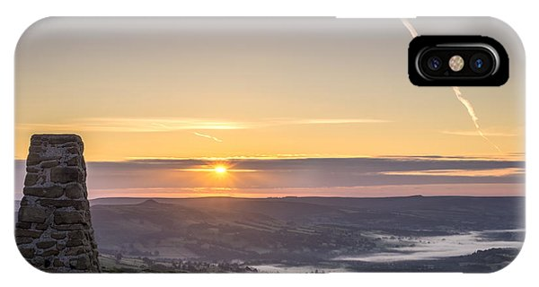 View Over The Hope Valley From Mam Tor At Dawn IPhone Case
