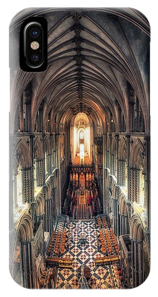 View Through Ely Cathedral IPhone Case