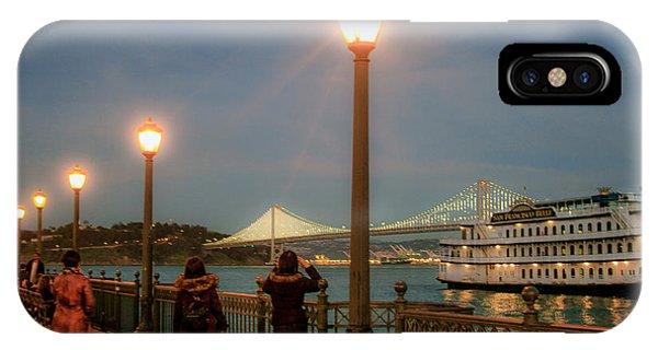 Viewing The Bay Bridge Lights IPhone Case