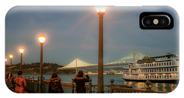 Viewing The Bay Bridge Lights IPhone Case
