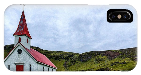 Vik Church And Cemetery - Iceland IPhone Case