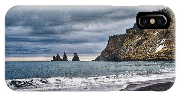 Vik Winter Wonderland Beach IPhone Case