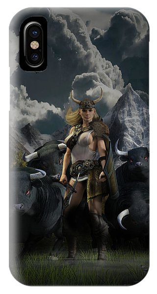 Viking Gefjon IPhone Case