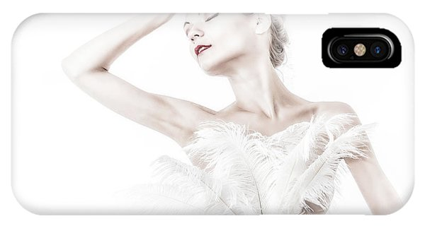 Viktory In White - Feathered IPhone Case