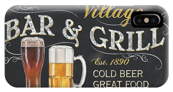 Cold iPhone Case - Village Bar And Grill by Debbie DeWitt