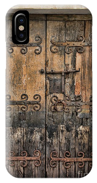 Village Chateau French Old Ancient Door Color  IPhone Case