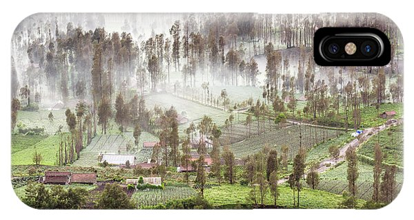 Village Covered With Mist IPhone Case