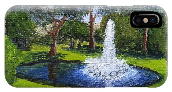 Village Fountain IPhone Case