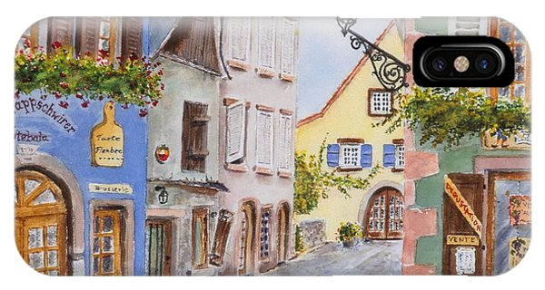 Village In Alsace IPhone Case