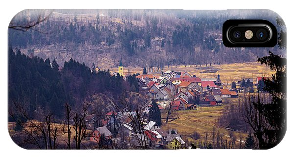 Village Of Lokve In Gorski Kotar  IPhone Case