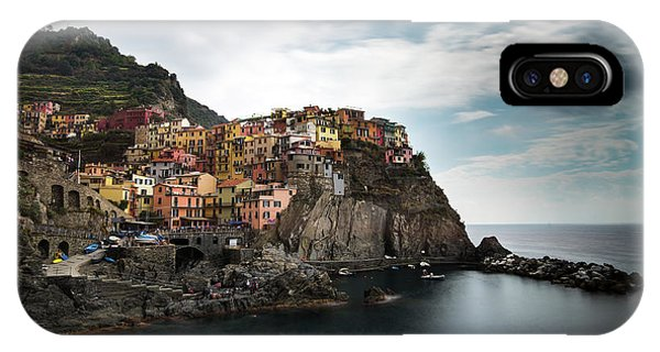 IPhone Case featuring the photograph Village Of Manarola Cinqueterre, Liguria, Italy by Michalakis Ppalis