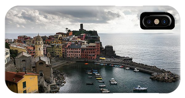 IPhone Case featuring the photograph Vernazza Village, Italy  by Michalakis Ppalis