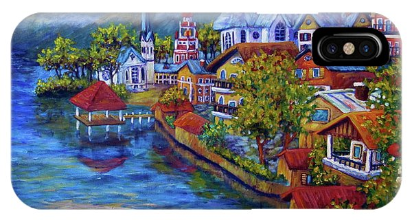 Village On The Lake IPhone Case