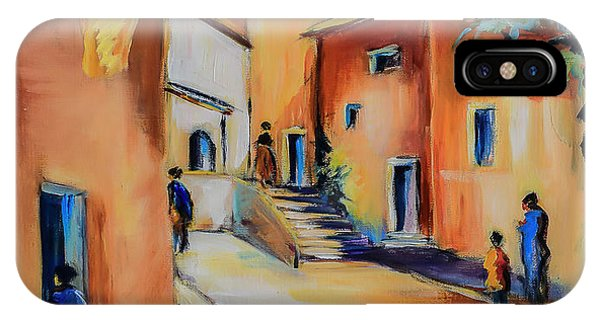 Fauvism iPhone Case - Village Street In Tuscany by Elise Palmigiani