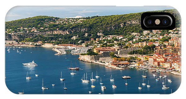 French Riviera iPhone Case - Villefranche-sur-mer And Cap De Nice On French Riviera by Elena Elisseeva