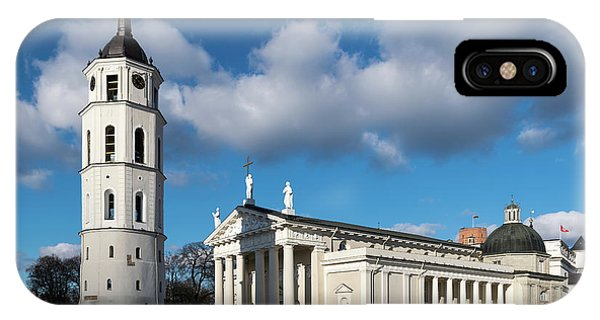 iPhone Case - Vilnius Bell Tower And Cathedral by Steven Richman