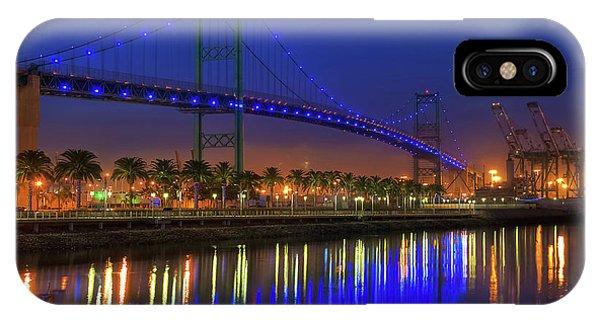 Vincent Thomas Bridge IPhone Case