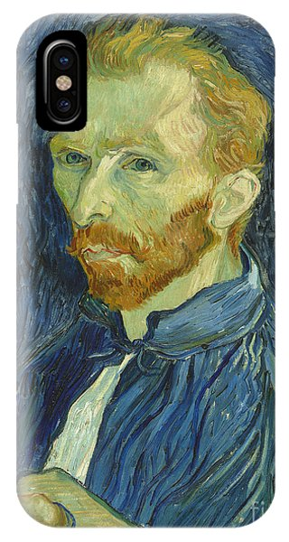 Van Gogh Museum iPhone Case - Vincent Van Gogh Self-portrait 1889 by Vincent Van Gogh