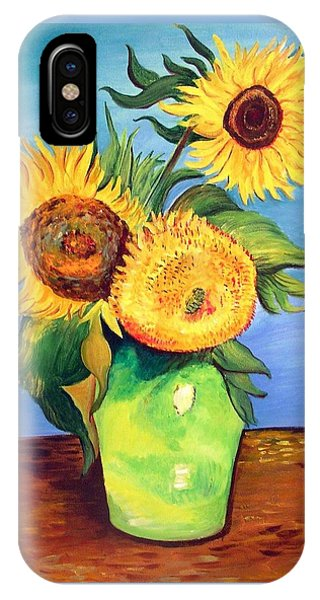 Vincent's Sunflowers IPhone Case