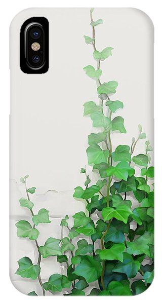 IPhone Case featuring the painting Vines By The Wall by Ivana
