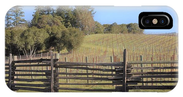 Vineyard In The Spring IPhone Case