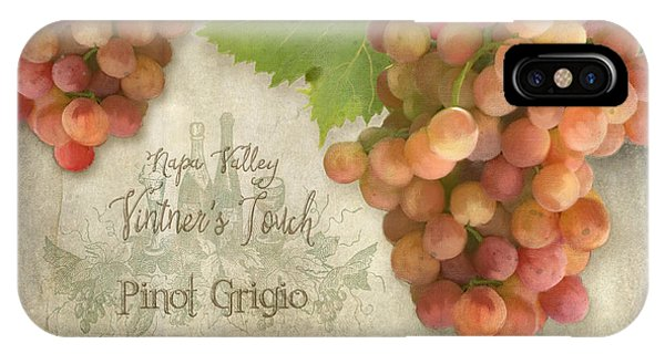Vineyard - Napa Valley Vintner's Touch Pinot Grigio Grapes  IPhone Case