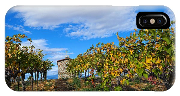 Chapel iPhone Case - Vineyard Temple by Mike Dawson