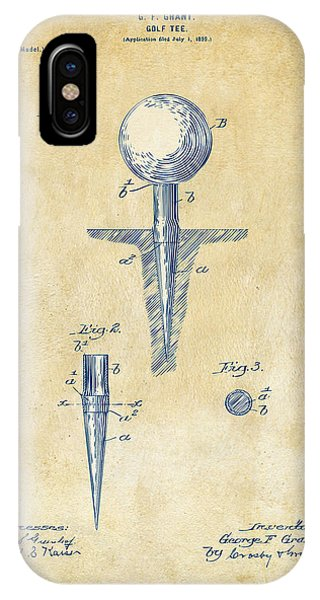 Vintage 1899 Golf Tee Patent Artwork IPhone Case