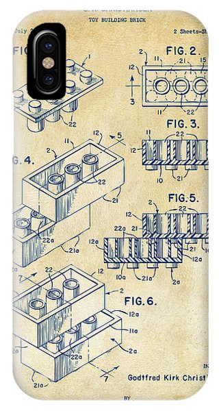 Patent Office iPhone Case - Vintage 1961 Toy Building Brick Patent Art by Nikki Marie Smith