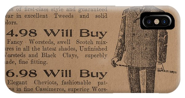 Vintage Ad For Men's Suits IPhone Case