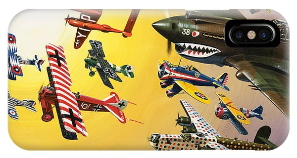 Different iPhone Case - Vintage Aircraft Montage by Wilf Hardy