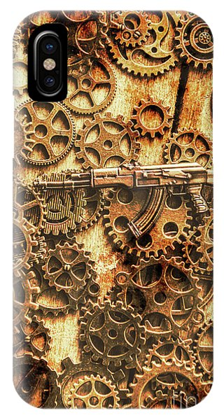 Armed iPhone Case - Vintage Ak-47 Artwork by Jorgo Photography - Wall Art Gallery