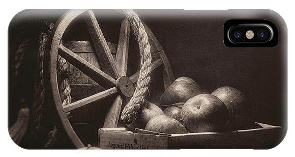 Agriculture iPhone Case - Vintage Apple Basket Still Life by Tom Mc Nemar