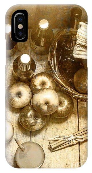 Vintage Apple Cider On Wood Crate IPhone Case