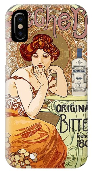 Vintage Art Nouveau Bechers Original Bitter 1807 IPhone Case